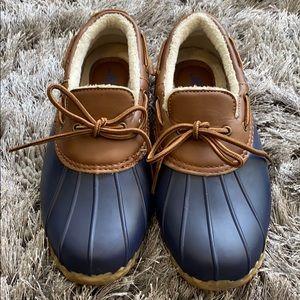 JBU low duck shoes navy brown waterproof
